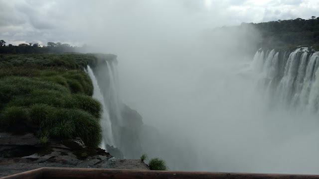 cascading falls of Iguazu- opposite sides
