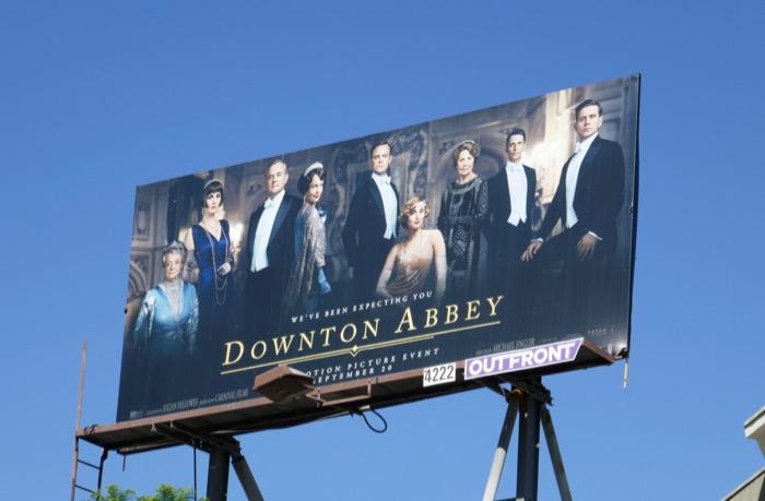 Downton Abbey film billboard
