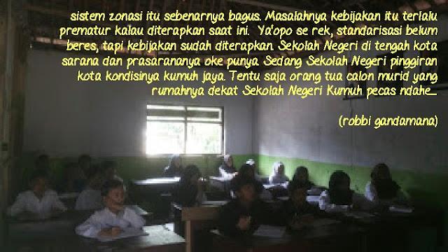 Gonjang Ganjing Sistem Zonasi Sekolah