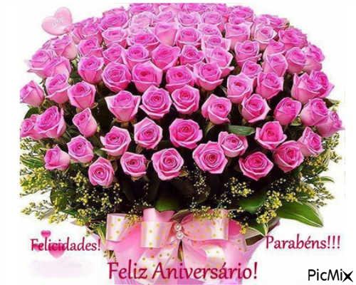 Carinho E Otimismo Mensagens: Feliz Aniversário Flores