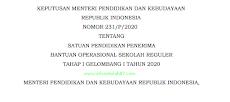 Daftar Penerima Bantuan Operasional Sekolah Reguler Tahap I Gelombang I Tahun 2020 (Keputusan Mendikbud Nomor 381/P/2020)