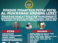 Info Ngaji Pasaran Sanlat Ramadhan di Pondok Pesantren Jawa Barat tahun 2021