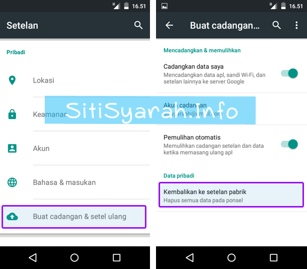 Cara Format Android Lollipop