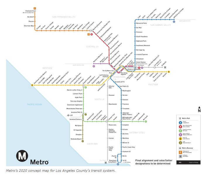 Los Angeles Subway Map New.The Pink Line 2019