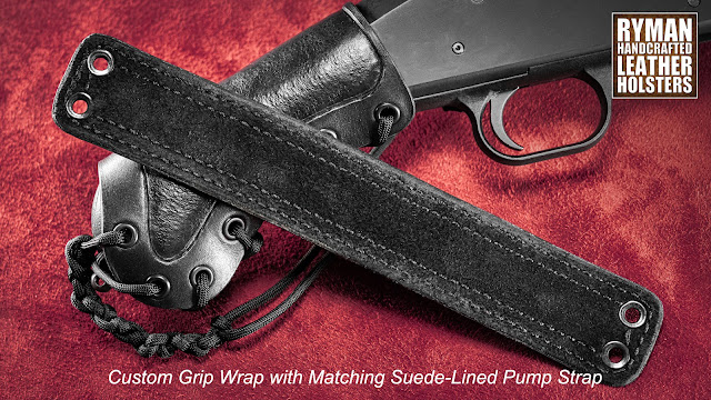 Mossberg Shockwave, Custom Leather Grip Wrap and Custom Leather Pump Strap