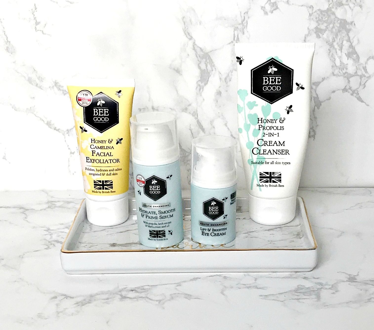 Bee Good Honey & Propolis 2-in-1 Cream Cleanser, Giveaway, Bee Good Youth Enhancing Hydrate, Smooth & Prime Serum, Bee Good Youth Enhancing Lift & Brighten Eye Cream