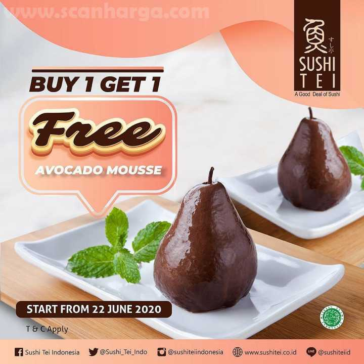 Promo SUSHI TEI BUY 1 GET 1 FREE Avocado Mousse