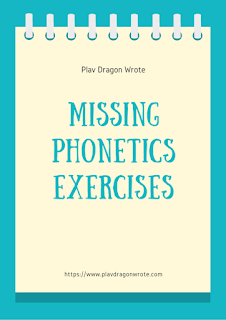 Missing Phonetics in Small Letters Exercises Logo
