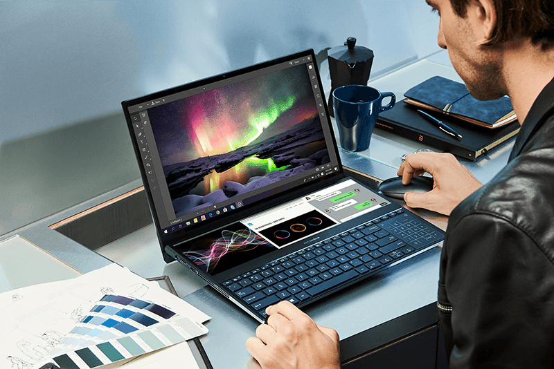The company showcased the ZenBook Pro Duo with ScreenPad Plus