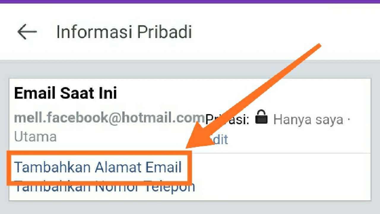 Cara mengganti email Facebook lewat hp