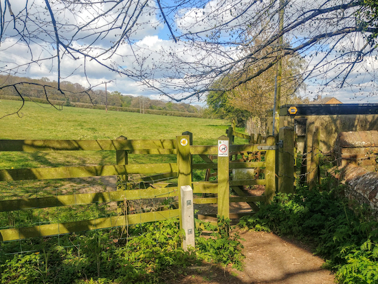 The gate leading to Great Gaddesden footpath 1