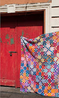 Battenburg quilt from Kaffe Fassett's Quilts in Ireland