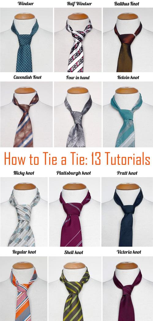 How To Tie A Tie Knot. 13 Tutorials