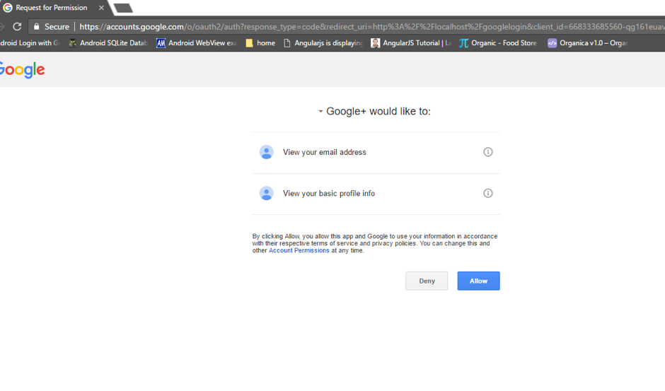google+ plus confirmation