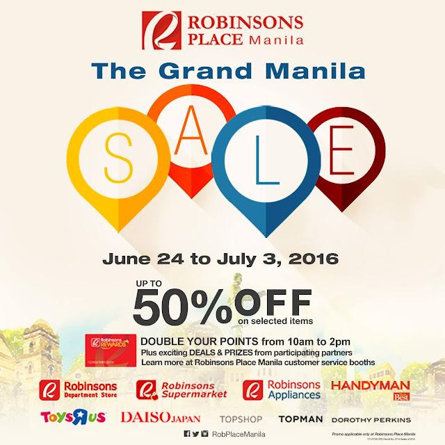 7ed9de504a748 Robinsons Place Manila- Grand Manila Sale 2016 Bloggers Fashion and Food  Crawl