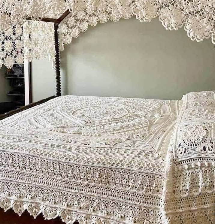 crochet bed set