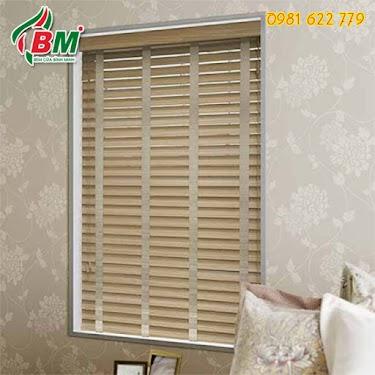 Rèm sáo gỗ chống bám bụi ẩm ướt cho cửa sổ phòng ngủ xinh,gọn gàng,sang trọng,,,công trình tại phước long,0981.622.779