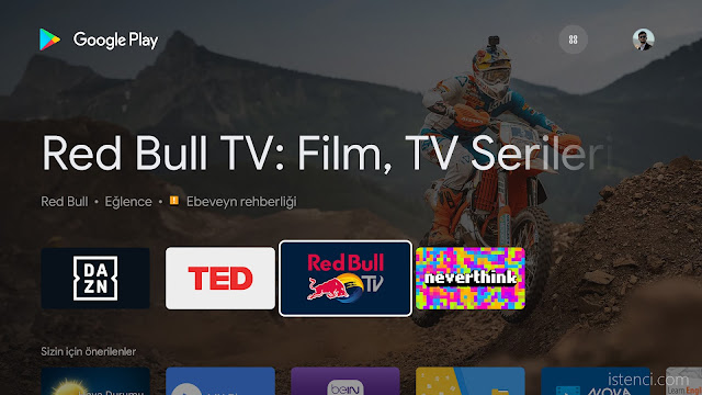 Android TV için Google Play Store Mağazası