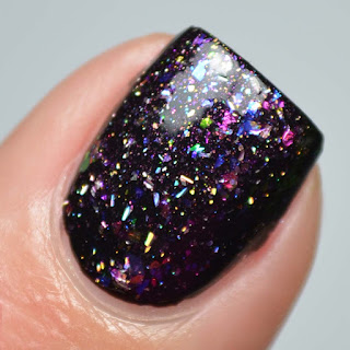 color shifting flakie topper nail polish