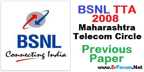 bsnl-je-tta-2008-maharashtra