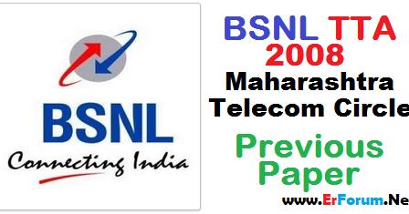 Pdf Bsnl Je Tta 2008 Maharashtra Telecom Circle