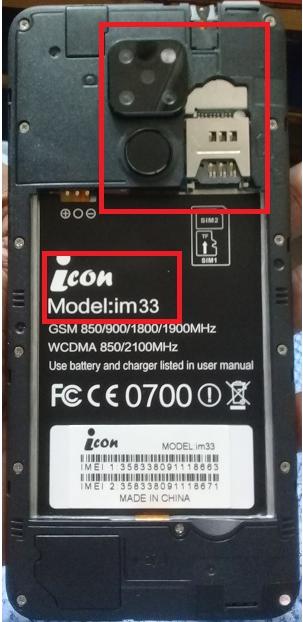 ICON iM33 NOS FLASH FILE MT6580 FIRMWARE