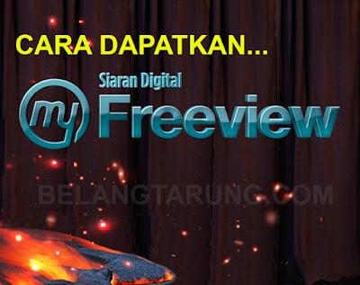 Cara Dapatkan Siaran Dekoder MyFreeview Digital HD