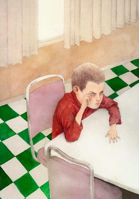 """Ilustracion cuento Truman Capote """"Un árbol en la noche"""""""