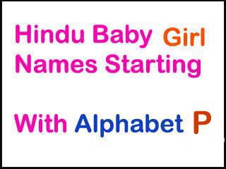Modern Hindu Baby Girl Names Starting With Letter P