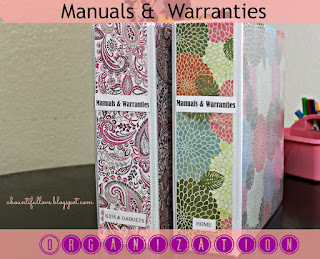 How to organize anuals and warranties