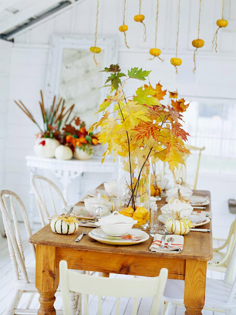 Beautiful Autumn Decor Ideas for Indoors and Out! | www.settingforfour.com
