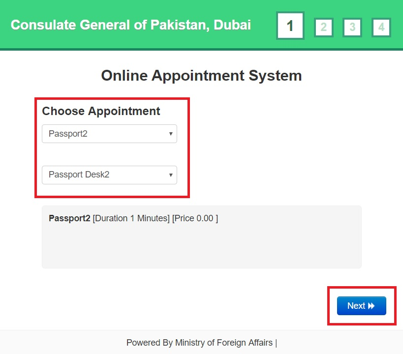 online appointment to renew Pakistani passport