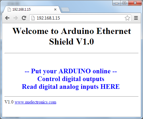 My Arduino Project: Arduino Web Server with ENC28J60 + JY
