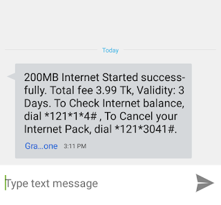 Grameenphone 4 Takay 200 MB