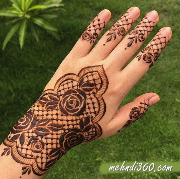 Royal Mehndi Design for Back Hand