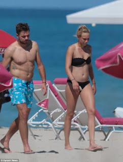 Stan Wawrinka And His Girlfriend Donna Vekic At The Beach