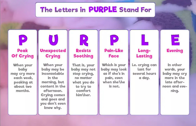 effort to draw attention to the dangers PURPLE Crying.