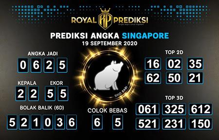 Royal Prediksi SGP Sabtu 19 September 2020