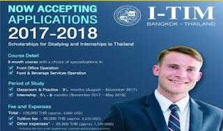 beasiswa kursus perhotelan singkat thailand