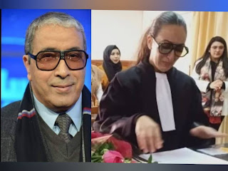 ابنة حسن الغضباني تنعى والدها خلال أول مرافعة جزائية لها وهي مرتدية نظاراته