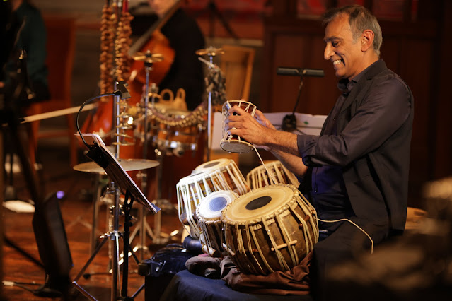 Kuljut Bhamra MBE performing at NW Live Arts' Music & Renewal concert