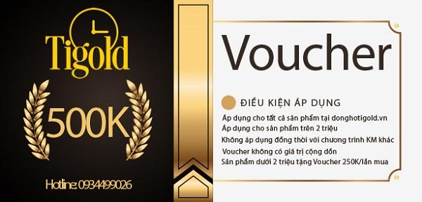 Voucher mua hàng 500K của Tigold