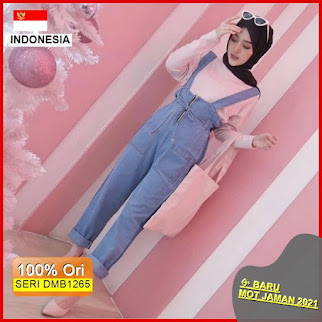DMB1265 JUMPSUIT OVERALL CARDIGAN 1KG MUAT 3PCS MISCA DENIM OVERALL OVERALL JEANS POLOS BARU 2021