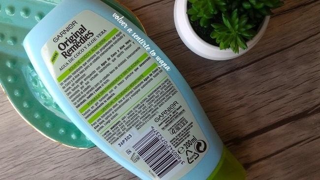 Acondicionador de Agua de Coco y Aloe Vera de Garnier