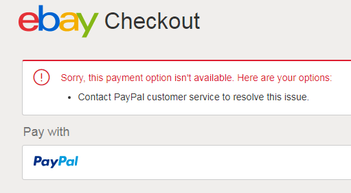 Ebay Payment Options >> Ebay Issue Sorry This Payment Option Isn T Available Here Are