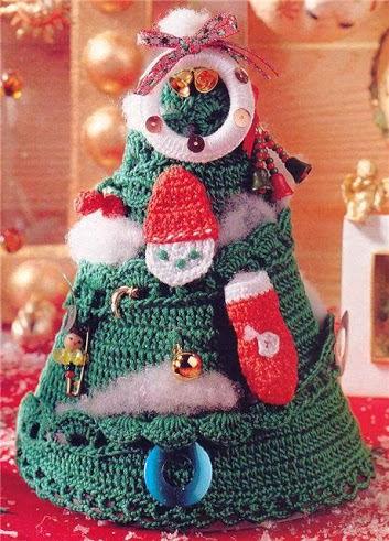 arbol navideñas a ganchillo