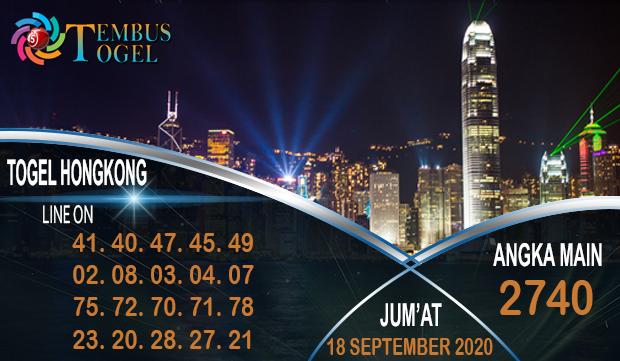 Angka Jitu Togel Hongkong Jum'at 18 September 2020
