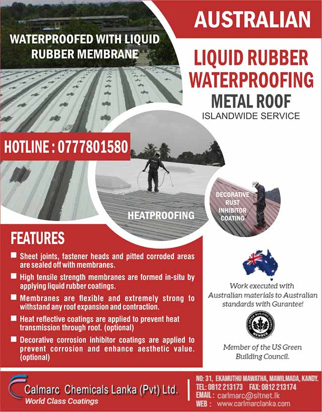 Liquid Rubber Waterproofing - Metal Roof | Calmarc Chemicals