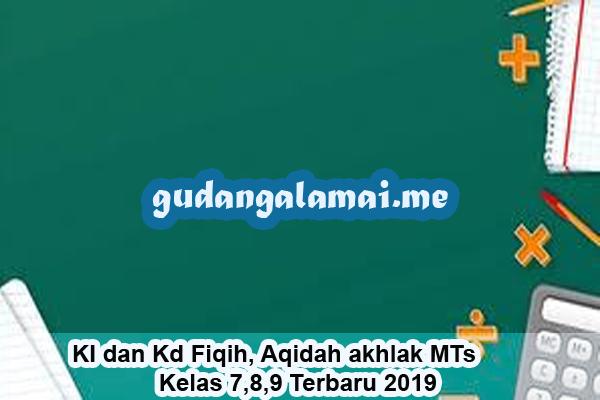 KI dan Kd Fiqih, Aqidah akhlak MTs Kelas 7,8,9 Terbaru 2019
