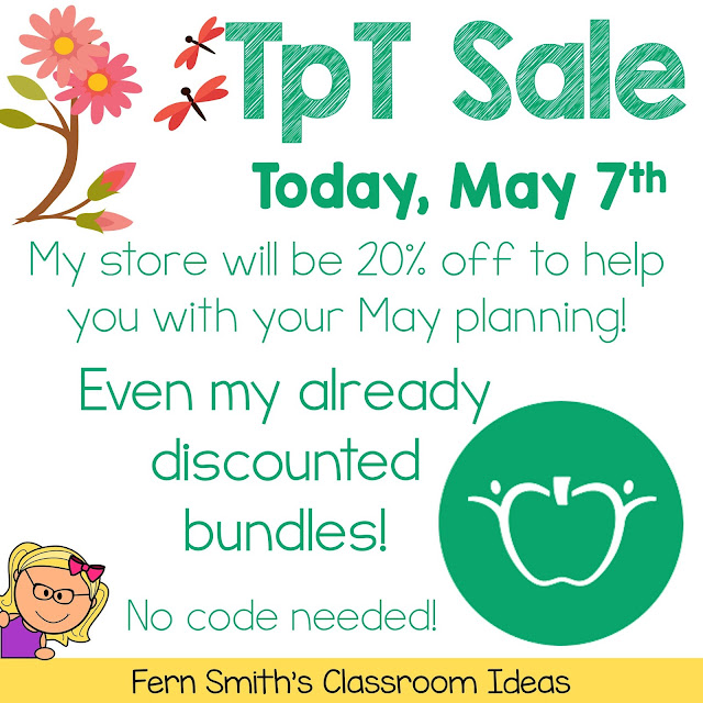 Top Ten Reasons Why I'm Having a TpT Sale Today!